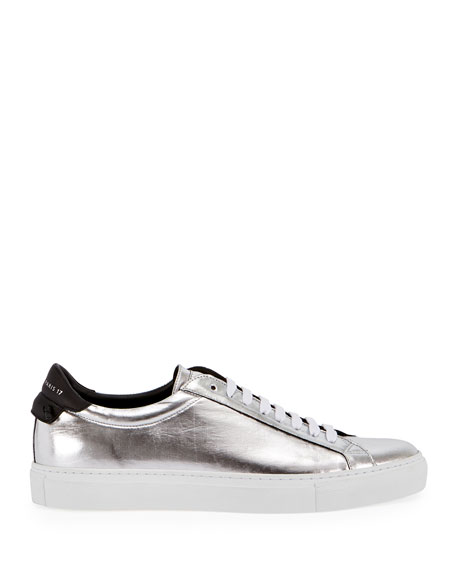 Urban Street Metallic Low-Top Sneaker, Silver