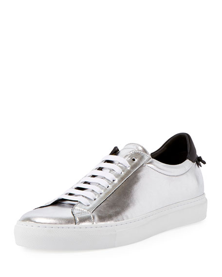 Urban Street Metallic Low-Top Sneaker, Silver