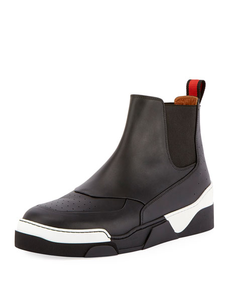 Givenchy Tyson 20 Leather Chelsea Sneaker, Black