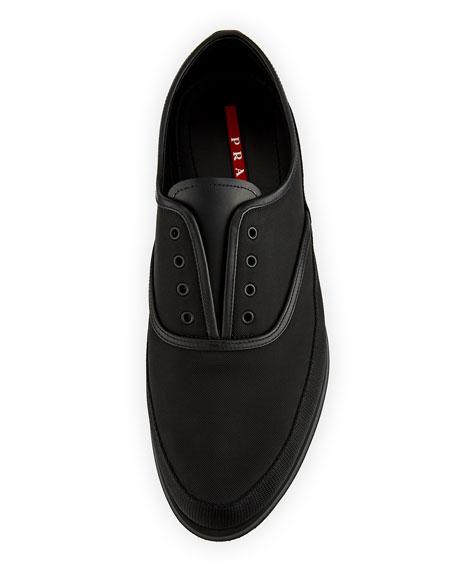 Laceless Slip-On Tennis Shoe, Black
