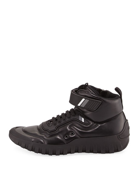 High-Top Sneaker Sport Boot, Black