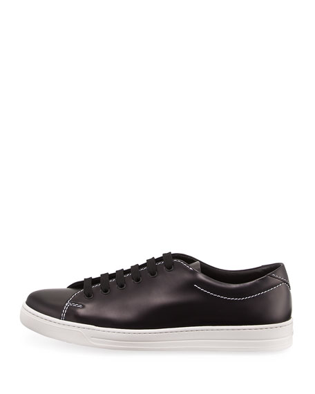Gentleman Spazzolato Low-Top Sneaker, Black