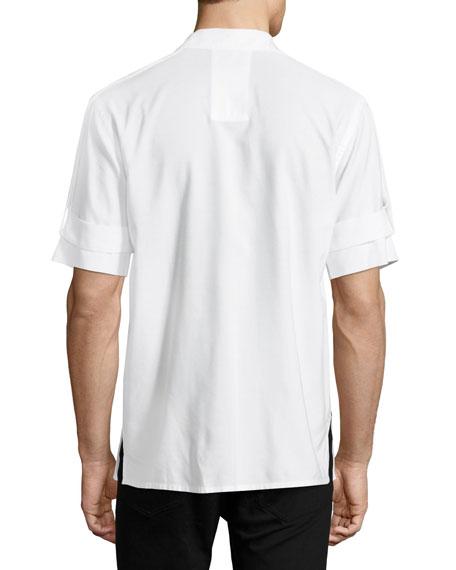 Armband Short-Sleeve Shirt, White
