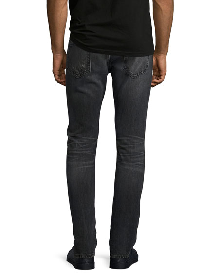 Mr. 87 Faded Slim-Fit Jeans, Gray