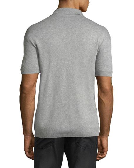 Cotton Pique Polo Shirt, Light Gray