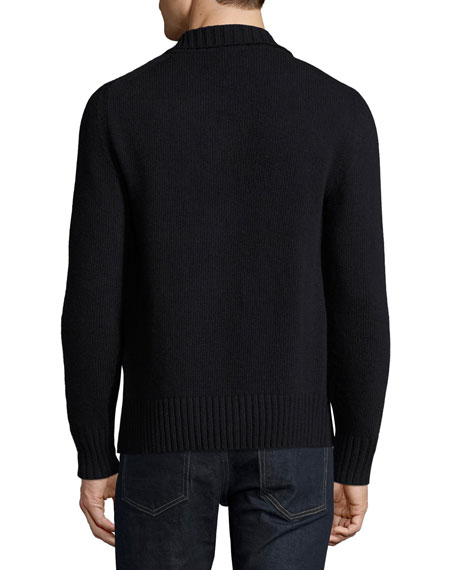 Ribbed Cashmere Cardigan