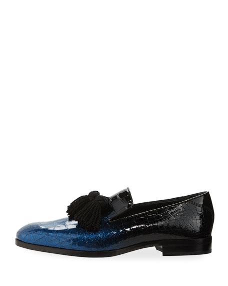83d126b1d83 Foxley D  233 grad  233  Crackle Leather Tassel Loafer ...
