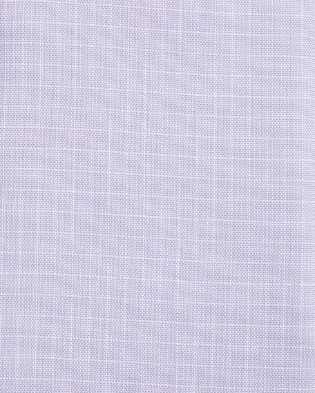 Tattersall Cotton Dress Shirt, Lavender/White