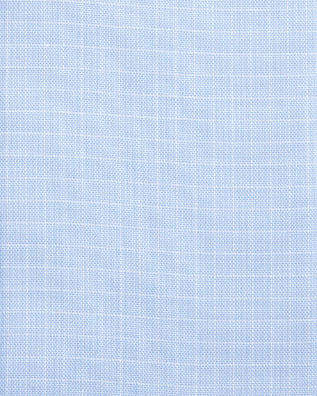 Tattersall Cotton Dress Shirt, Blue