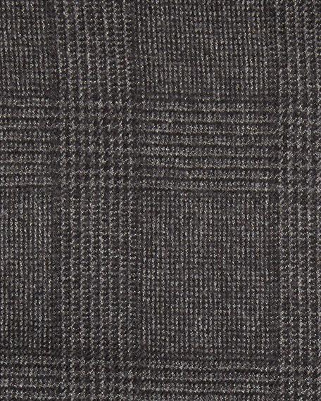 Prince of Wales Plaid Wool Jacket