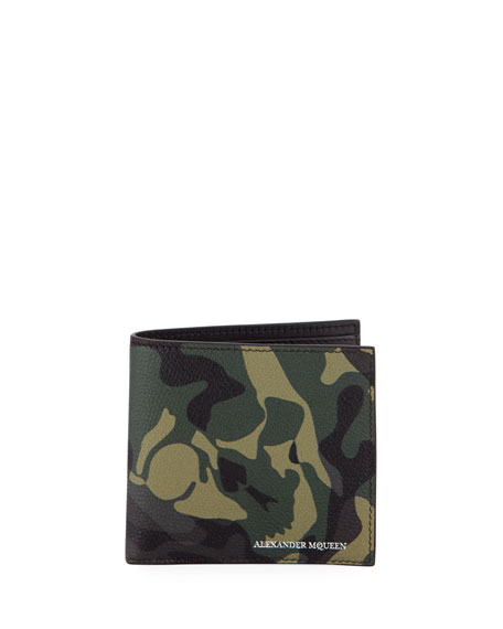 Camo Leather Bi-Fold Wallet