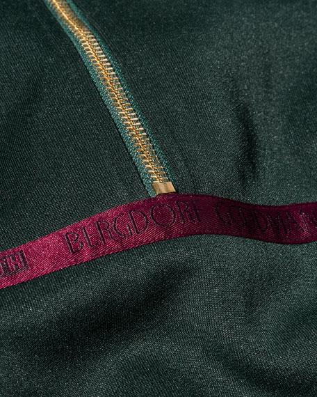 Half-Zip Pullover Sweatshirt, Green