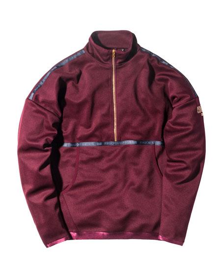 Half-Zip Pullover Sweatshirt, Burgundy