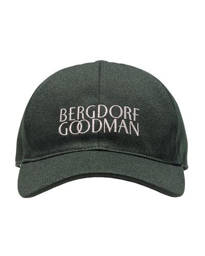 Logo-Embroidered Baseball Cap, Green