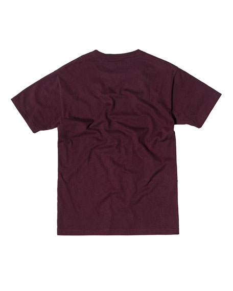 Cotton Logo T-Shirt, Burgundy