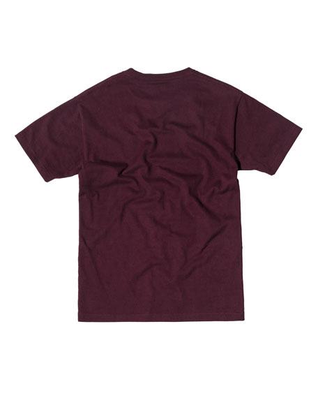 Cotton Logo T-Shirt, Burgundy