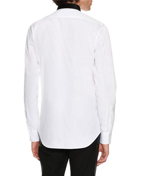 Contrast-Placket Woven Shirt