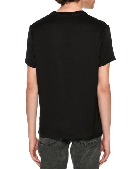 Silk Crewneck Pocket T-Shirt, Black