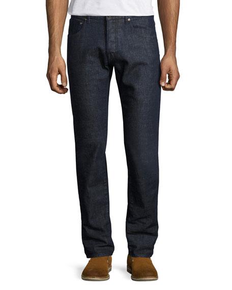 Regular-Fit Straight-Leg Jeans, Blue