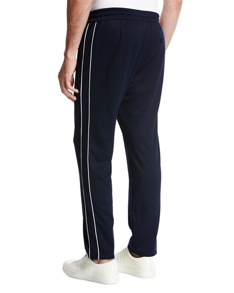 Drawstring Track Pants, Navy
