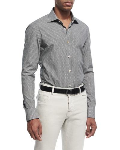 Mosaic-Print Cotton Shirt