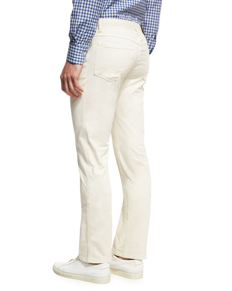 Twill Five-Pocket Pants, Khaki