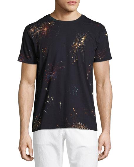 Fireworks Cotton T-Shirt, Navy