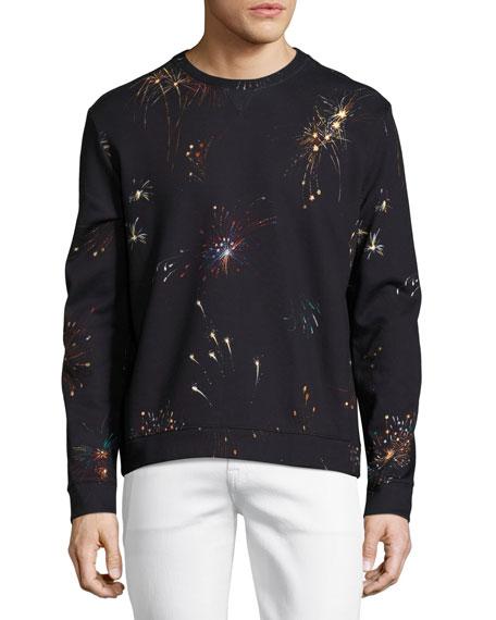 Fireworks Neoprene Sweatshirt, Navy