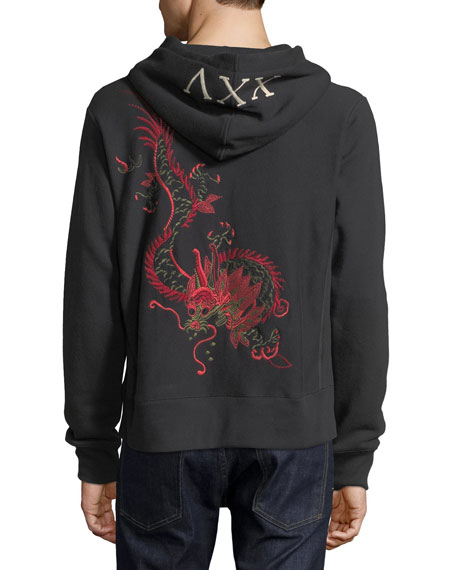 Dragon Embroidered Hoodie Sweatshirt