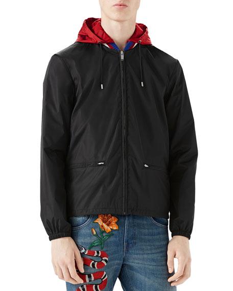 d426bd725c28 Gucci Nylon Logo Jacket