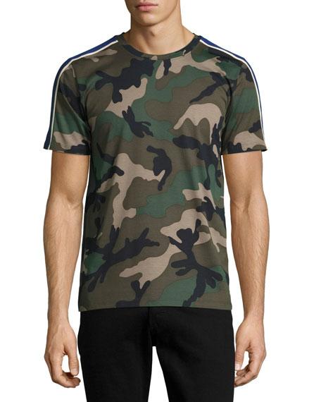 Camu Striped Cotton T-Shirt, Green