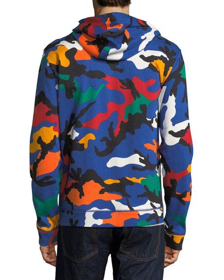 Camu Fleece Zip-Front Hoodie