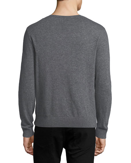 Tattoo Intarsia Cashmere-Wool Sweater