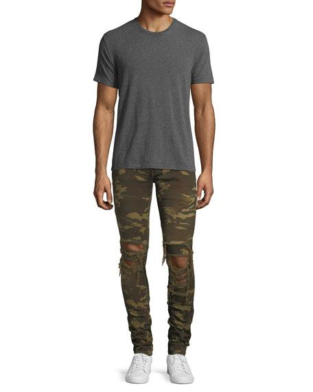 Distressed Camo Moto Skinny Jeans