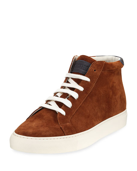Suede High-top Sneakers Brunello Cucinelli 100% Authentic xfo5KX