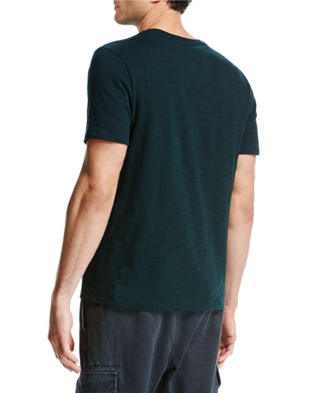Slub Cotton Crewneck T-Shirt, Forest