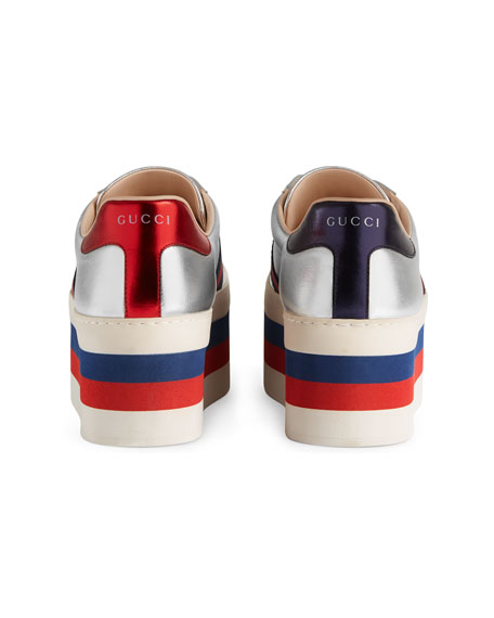 bb0d7c76c059 Gucci New Ace Leather Low-Top Platform Sneaker