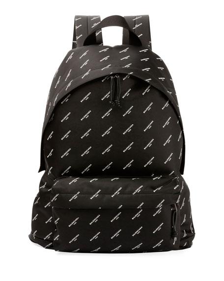 Explorer Logo-Print Canvas Backpack
