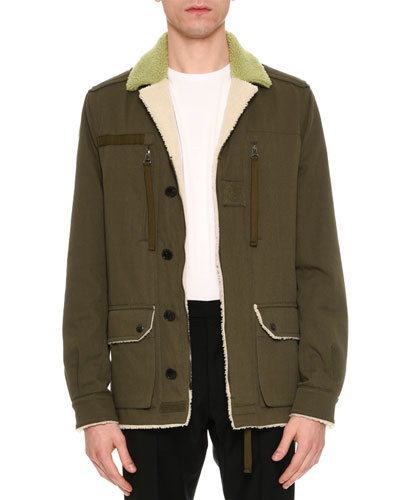 Beauty is a Birthright Shearling-Lined Jacket