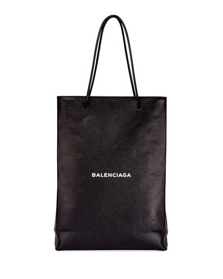 Men's Medium North-South Leather Tote Bag