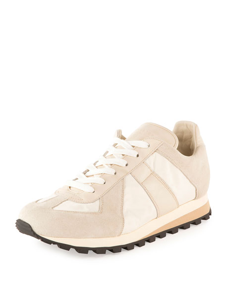 Maison Margiela Men's Retro Runner Leather & Suede