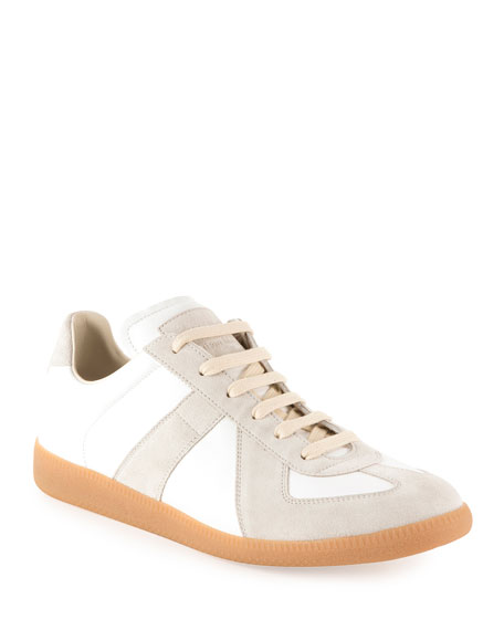 Maison Margiela Replica Leather Low-Top Sneakers nRTdSqn