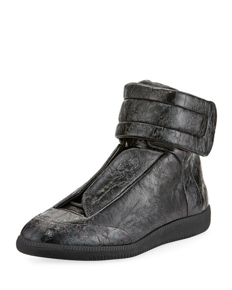 Future Crackled Leather High-Top Sneaker