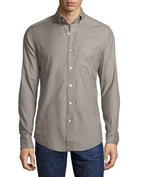 Solid Twill Sport Shirt