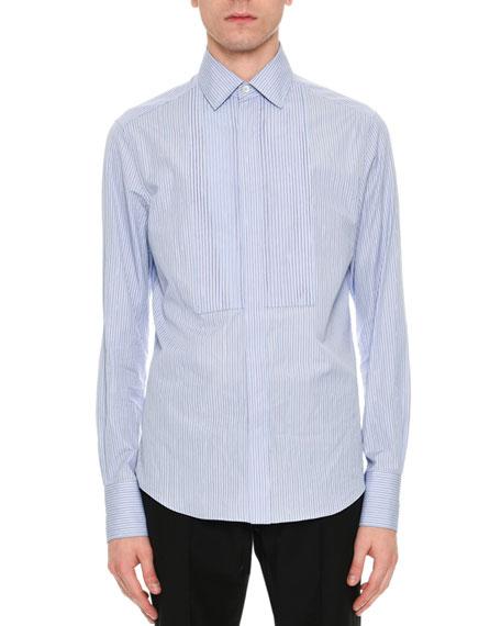 Striped Cotton Bib Shirt