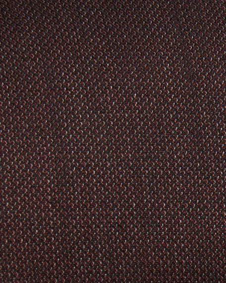 Solid Wool Sport Coat, Rust Brown
