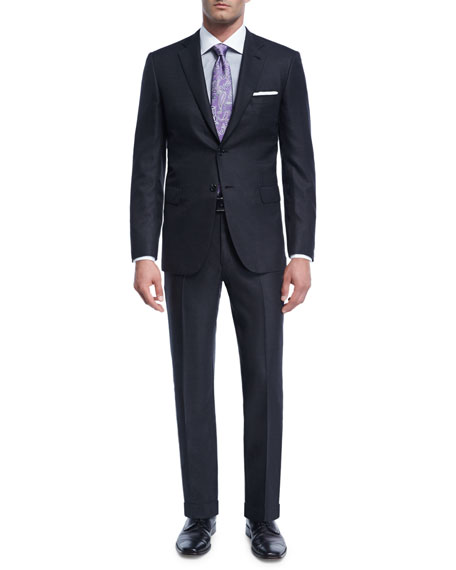 Brioni Textured Solid Wool Two-Piece Suit In Gray