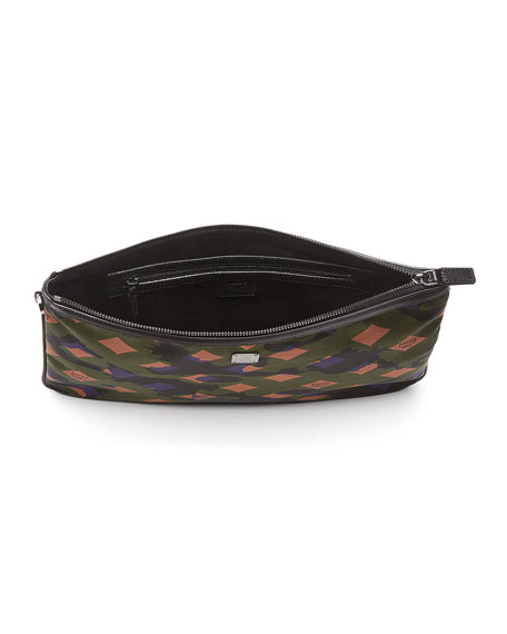 Dieter Munich Lion Camo Pouch, Green