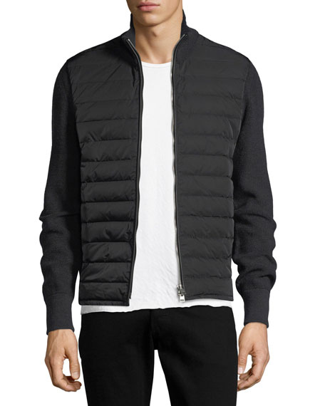 Quilted Zip-Front Cardigan