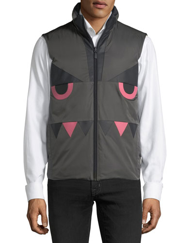 Monster-Face Reversible Vest